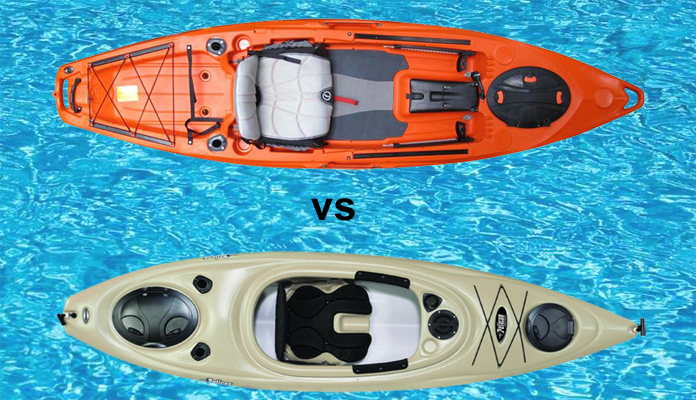 Sit inside vs sit on top kayaks the winner is reel for Best sit on top fishing kayak